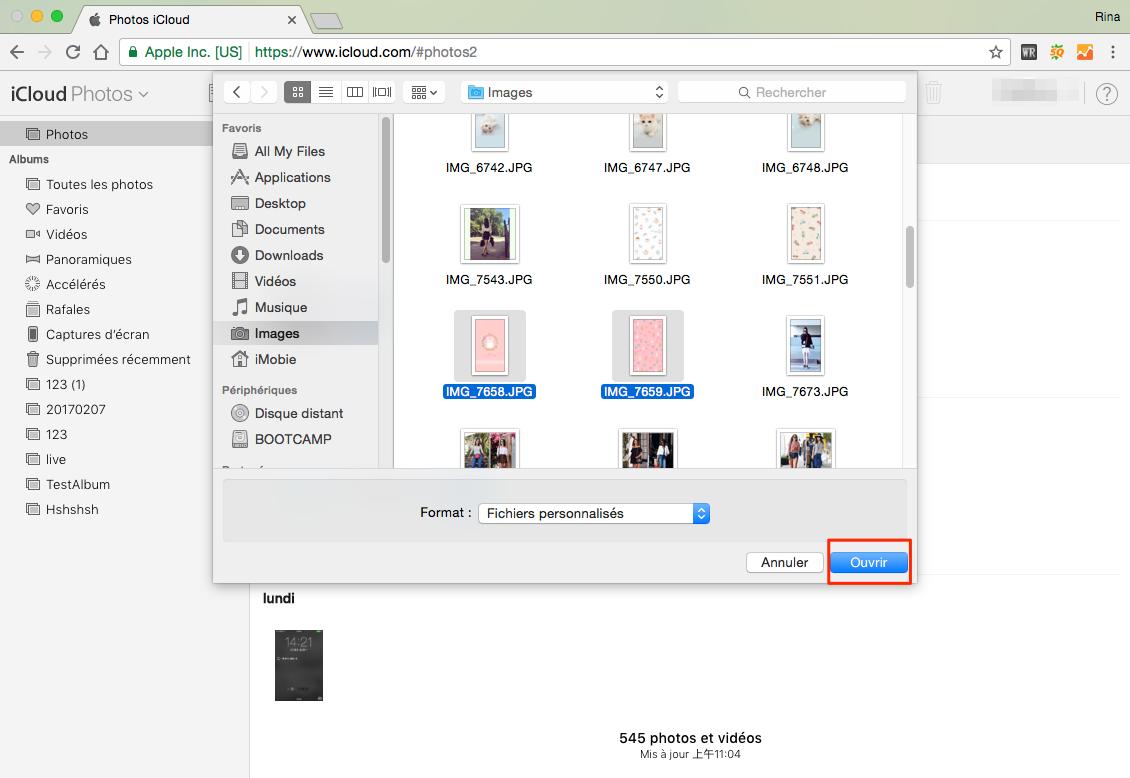 Comment sauvegarder les photos de PC/Mac vers iCloud