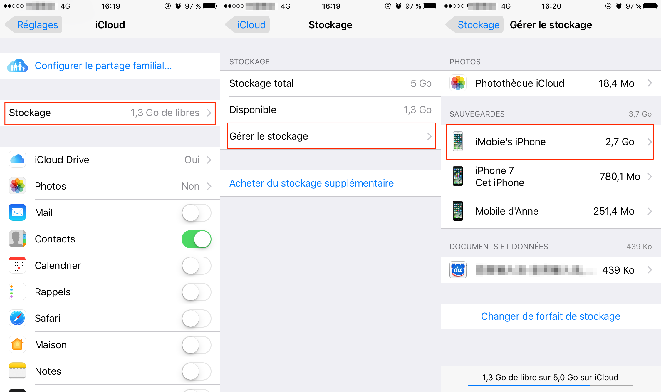 Comment supprimer fichiers iCloud