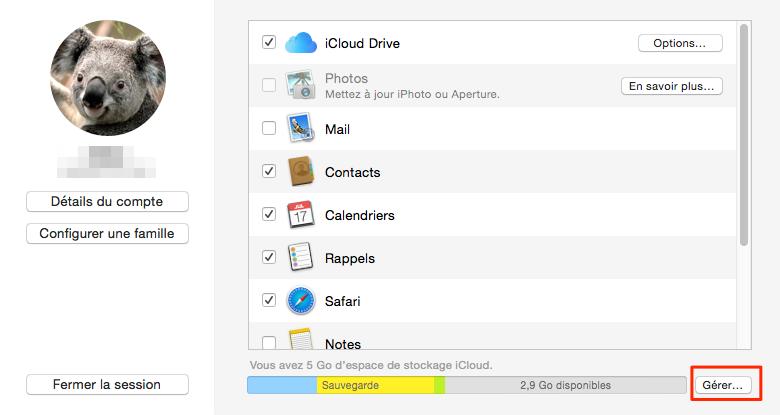 Effacer les documents iCloud sur Mac