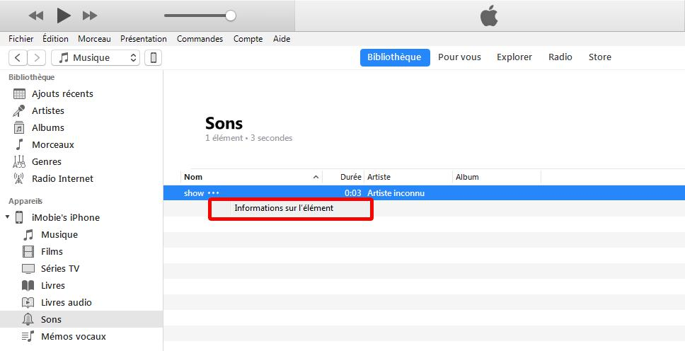 itunes synchronisation impossible