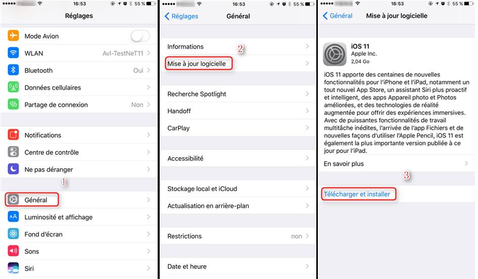 Comment télécharger et installer iOS 11 sur votre appreil ios