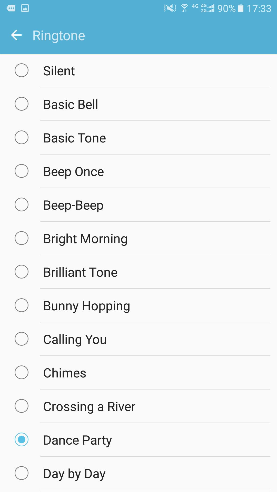 Choisissez votre sonnerie préférée