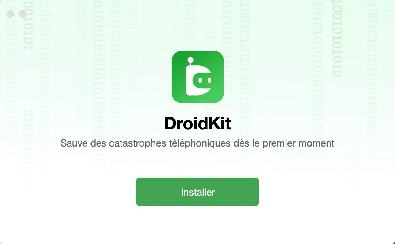 Installez DroidKit sur votre ordinateur Mac