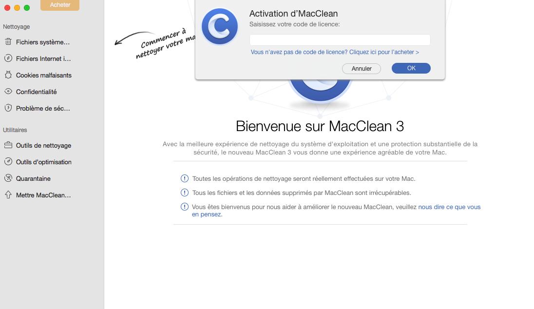 Activer MacClean