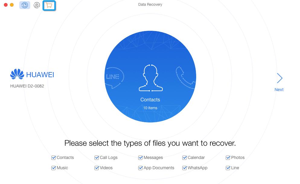 Cliquez sur l'icône Panier