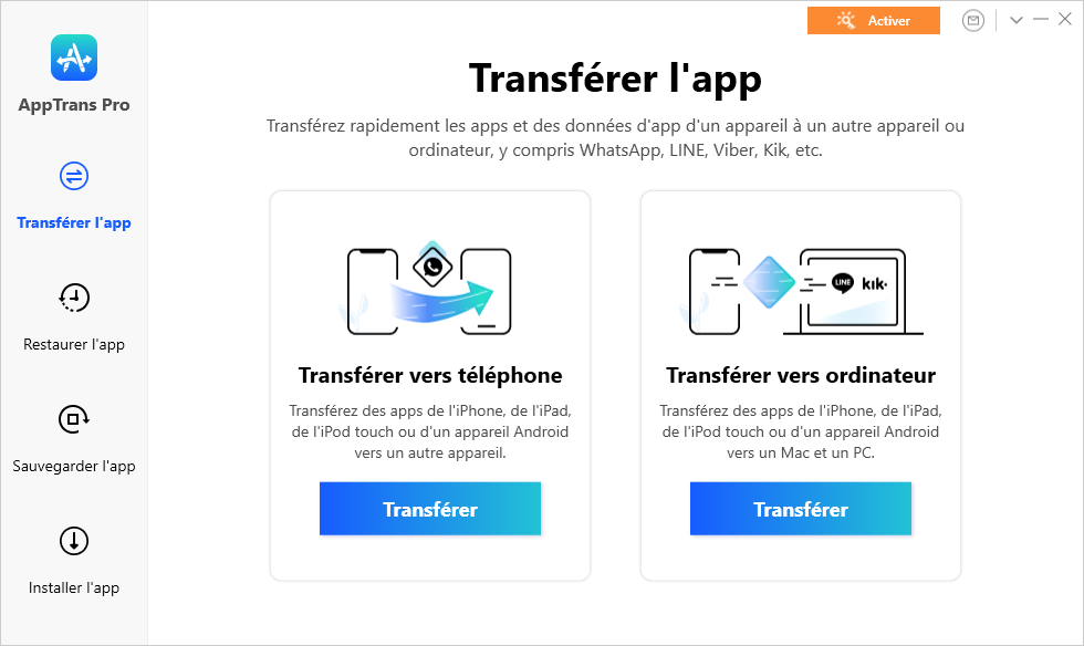 The Main Interface of AppTrans