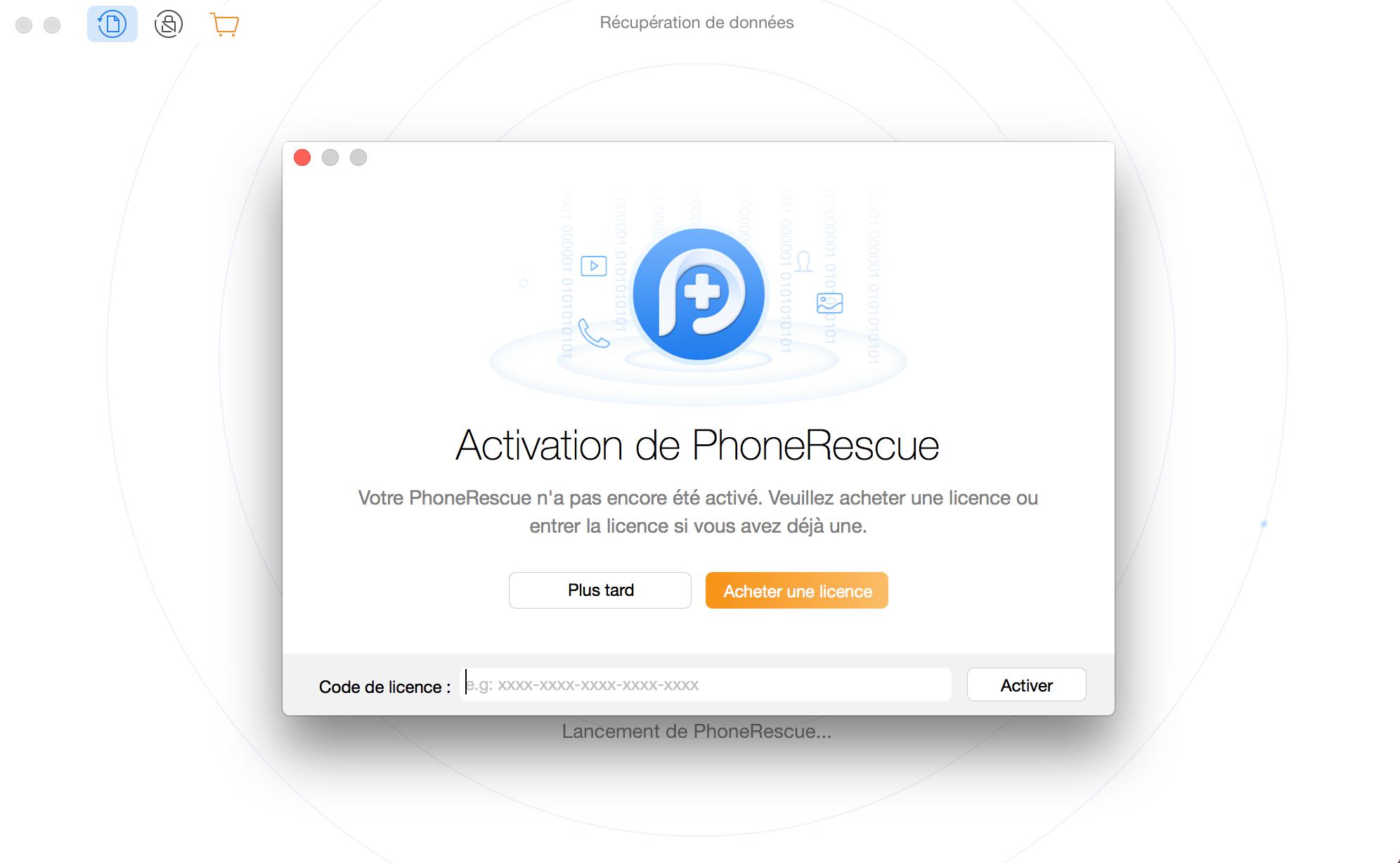 Enregistrer PhoneRescue pour Google