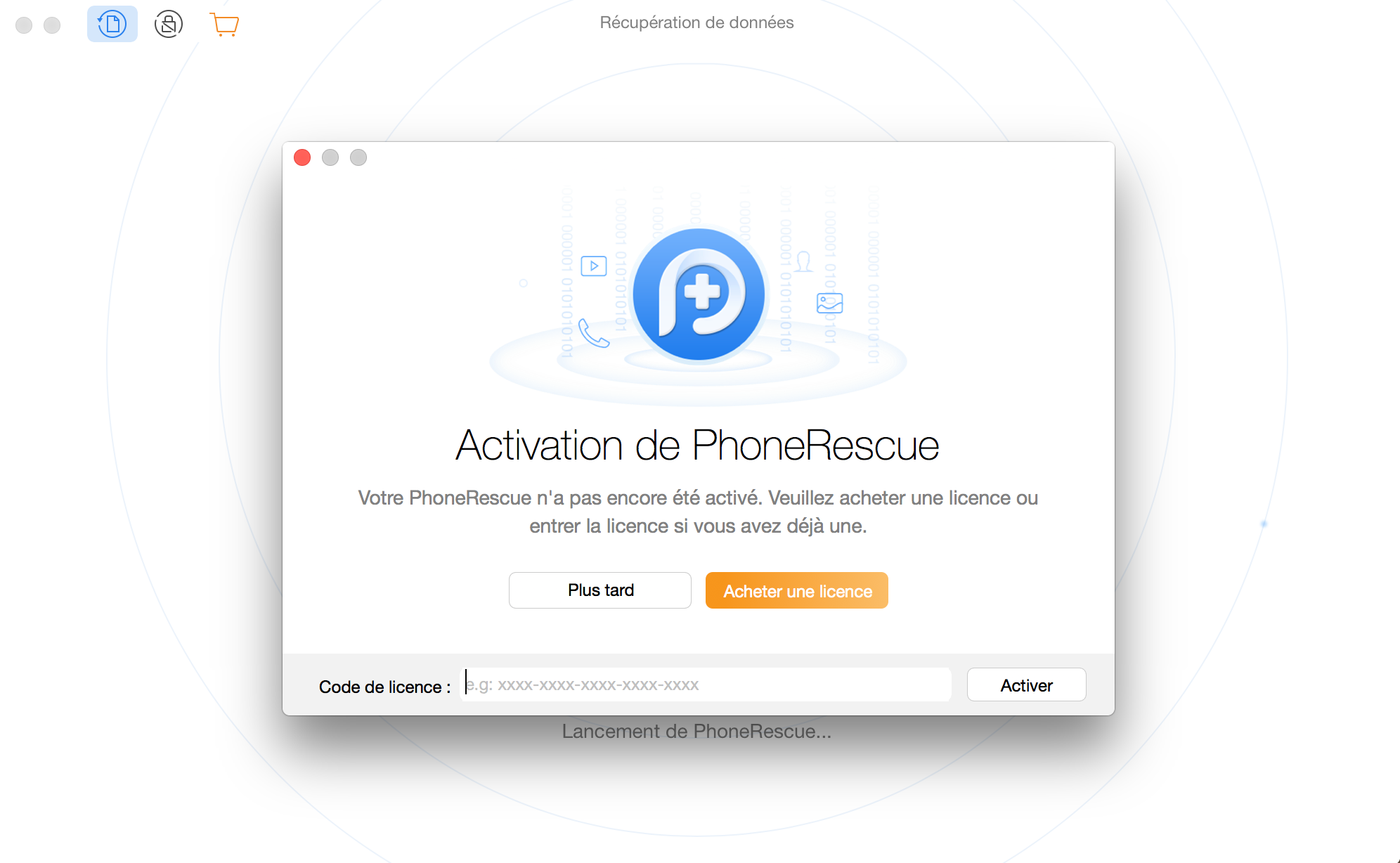Enregistrer PhoneRescue pour Android