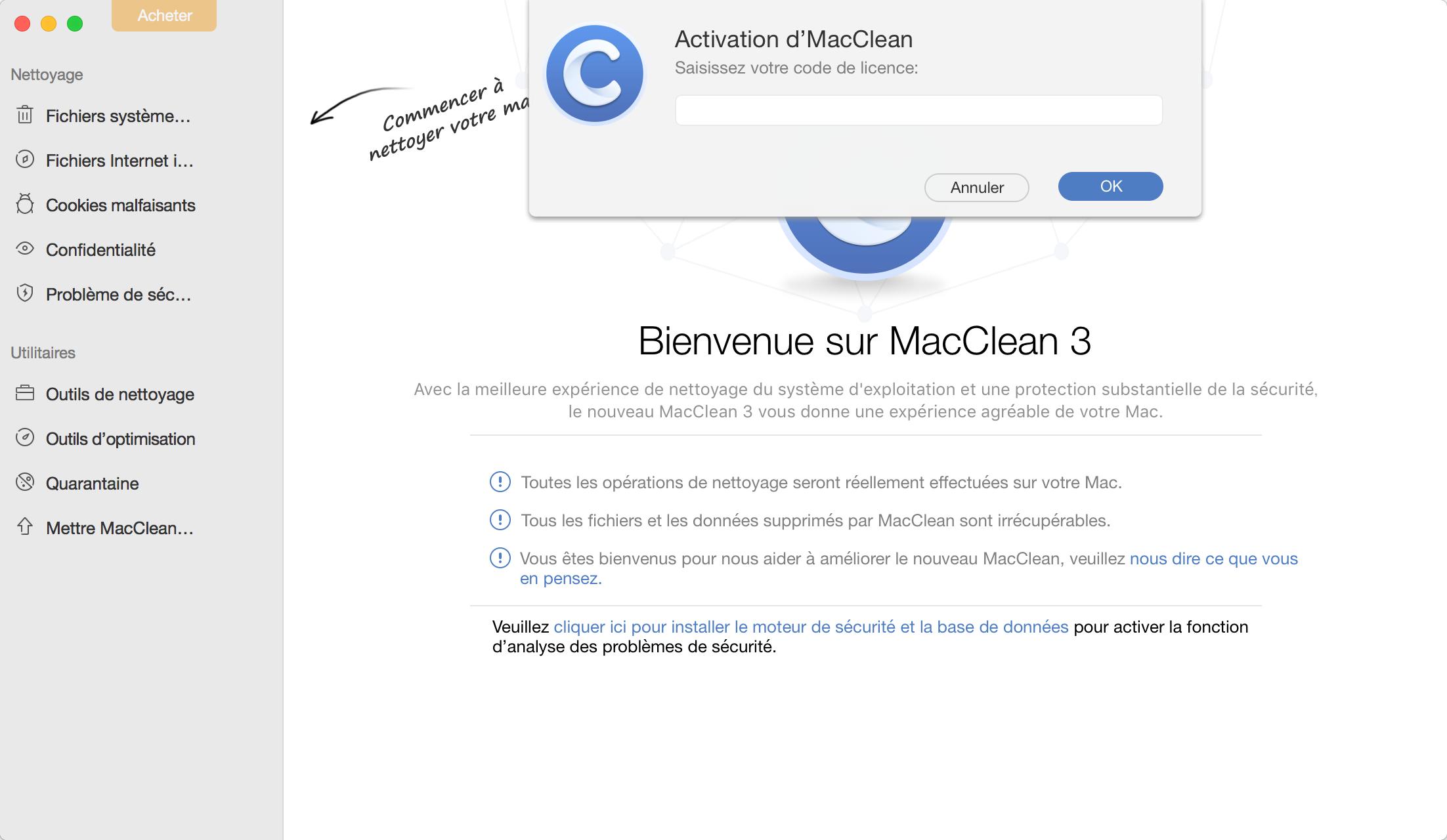 Activation de MacClean