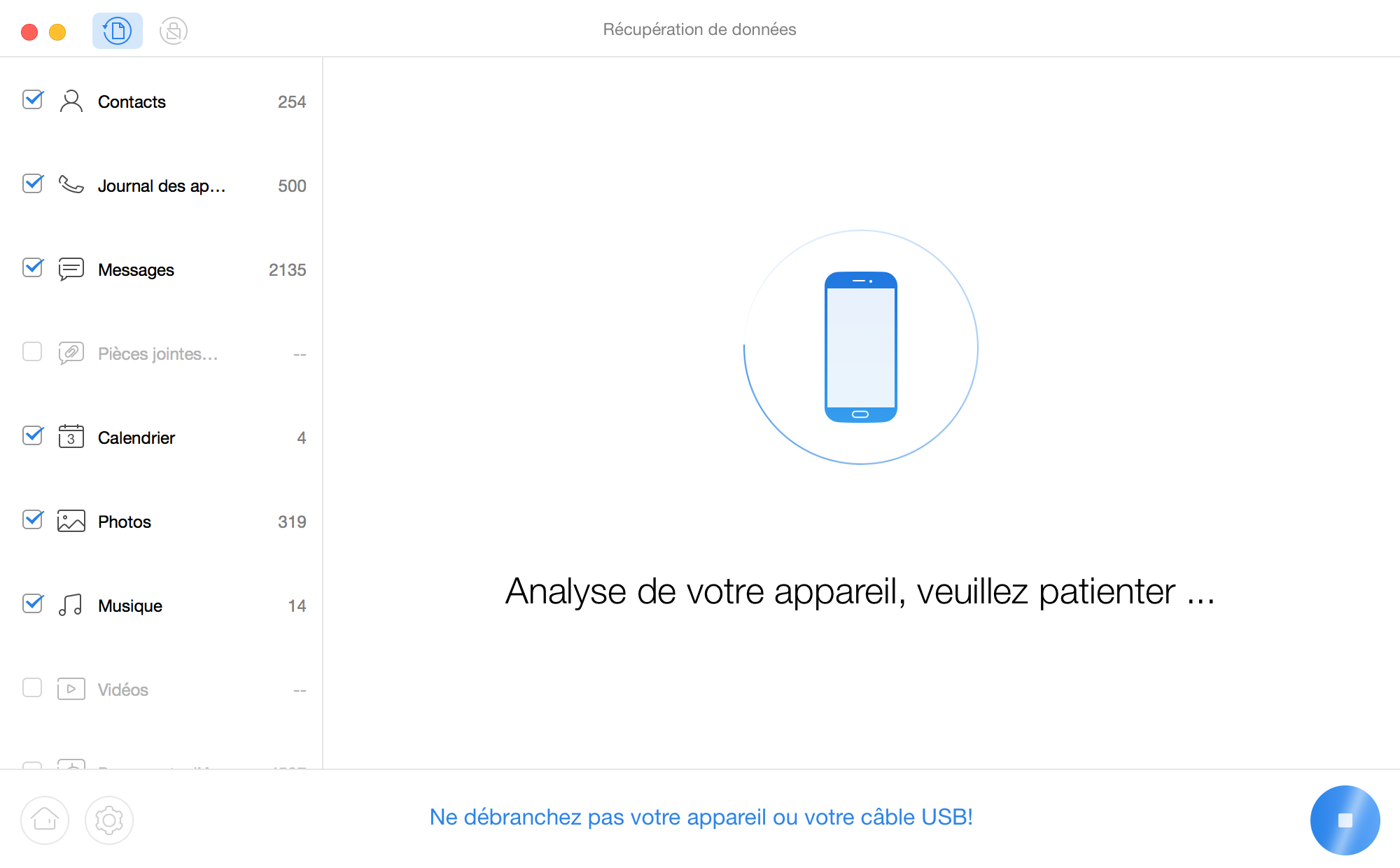 Attendez le processus d'analyse