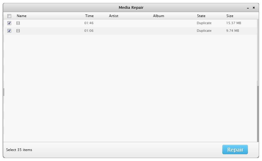 Enlever/Réparer les Fichiers Multimédias 5