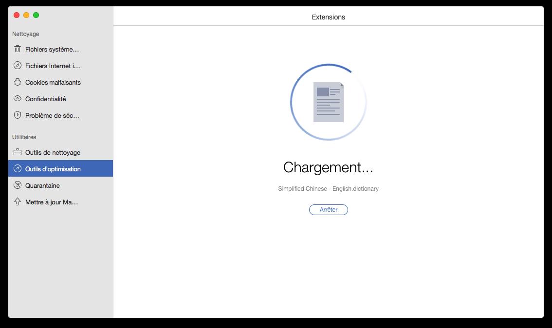 Analysez les extensions sur le Mac