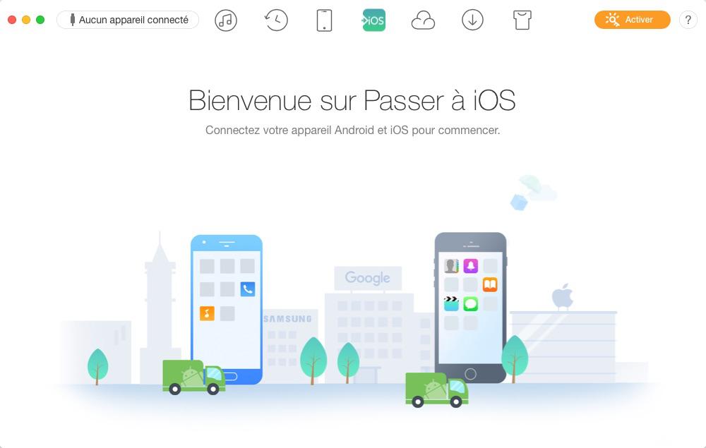 Connexion des appareils Android et iOS