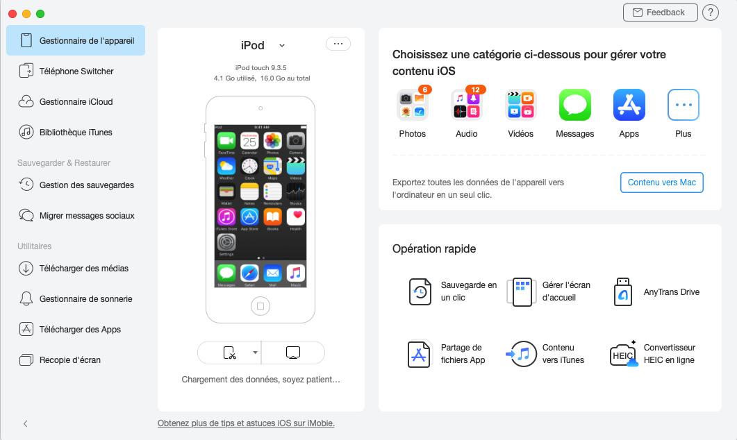 Connexion de votre périphérique iOS
