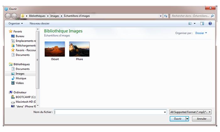importer les fichiers multimédias vers l'appareil