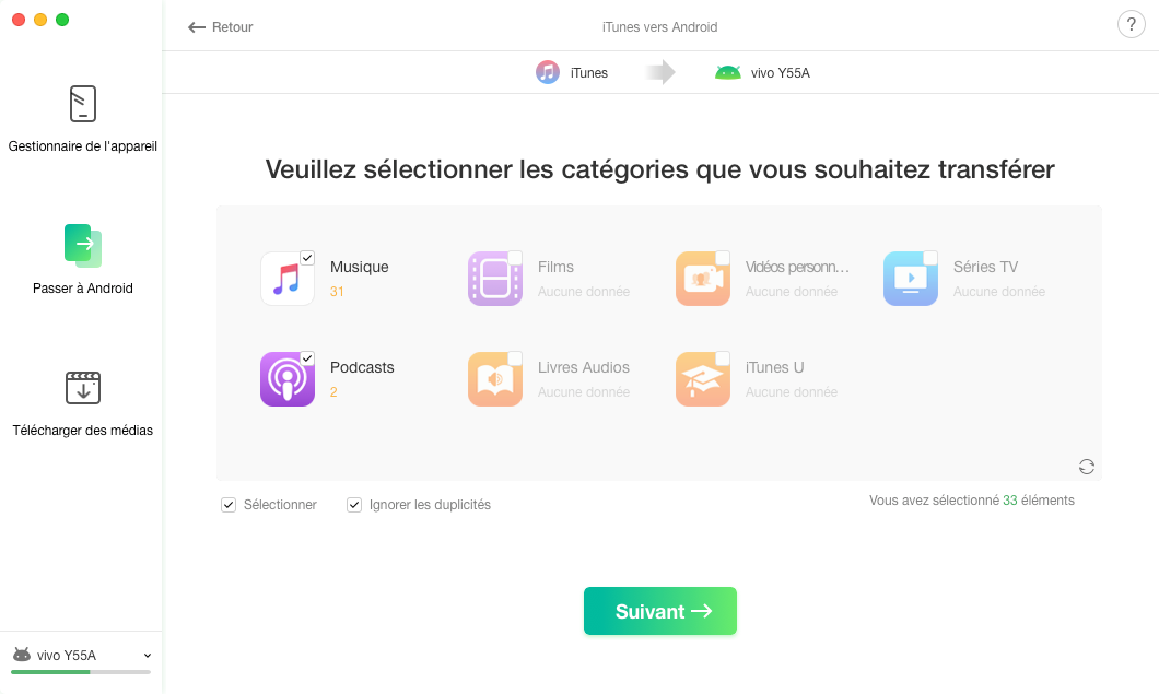iTunes vers Android - 3
