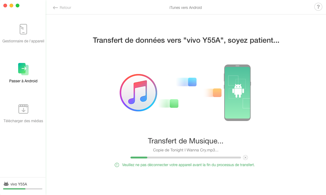 iTunes vers Android - 4