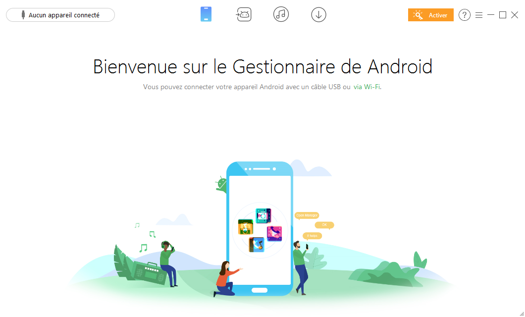 Connecter l'appareil Android