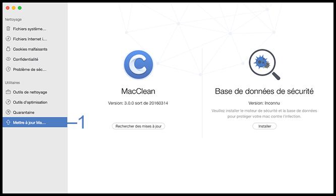 Sélectionner l'option Mettre à jour MacClean