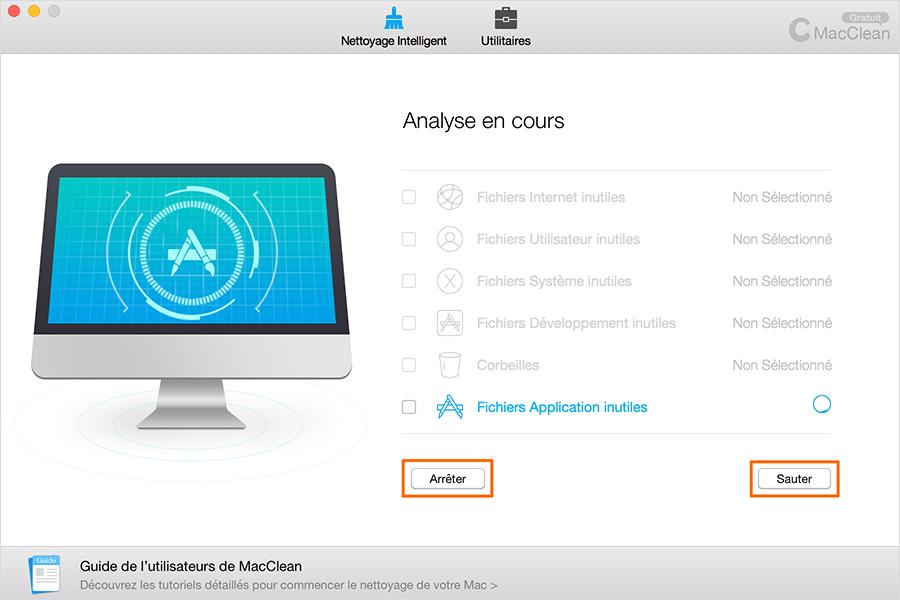 Scanner les fichiers inutiles d'App