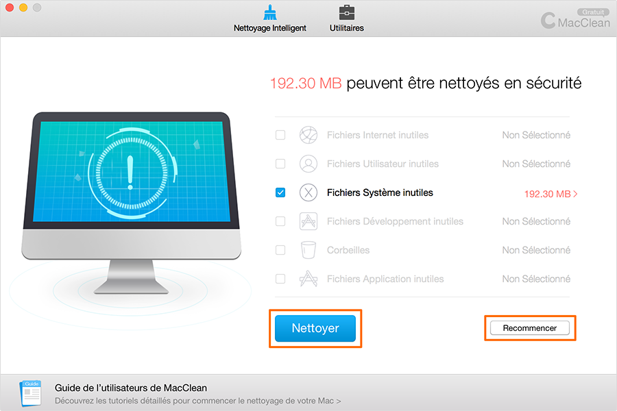 Nettoyer les fichiers inutiles