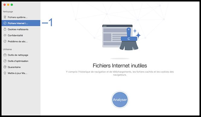 Sélectionner Fichiers Internet inutiles