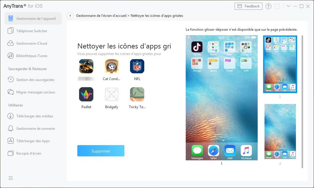 Détecter les icônes d'apps grisées