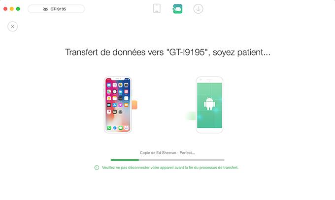 Transférer données d'appareil iOS vers Android
