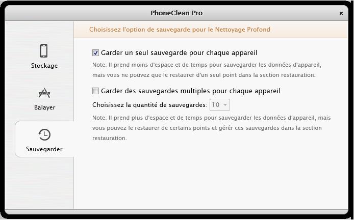 L'Aperçu de PhoneClean 4