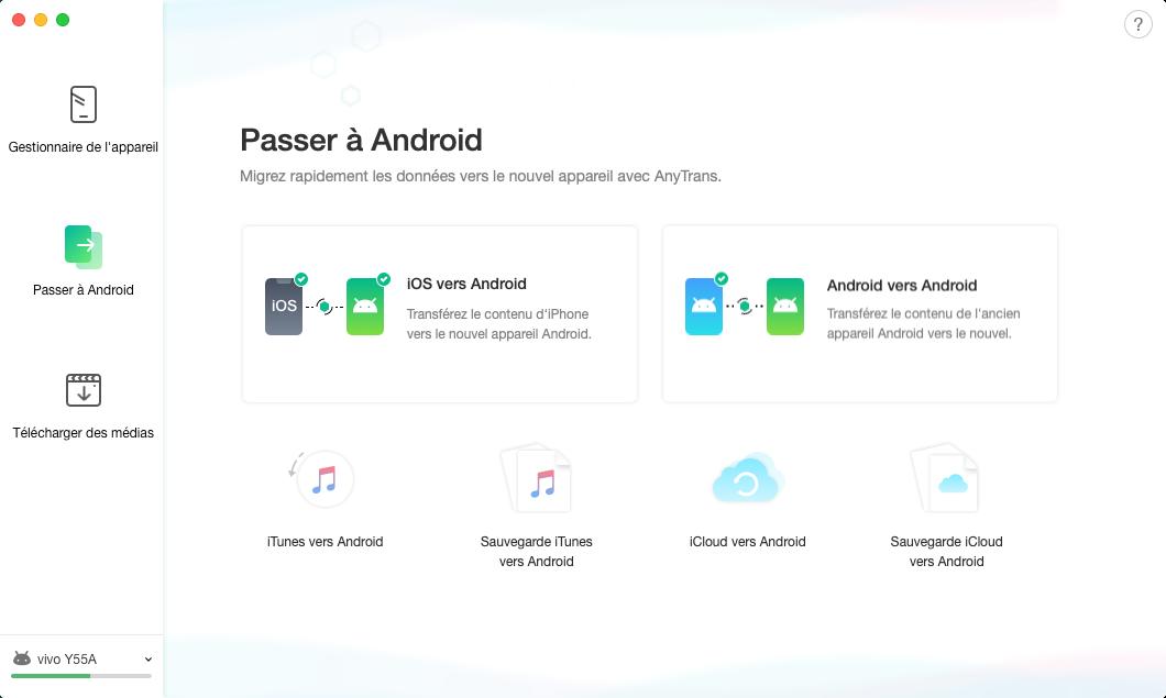 Sauvegarde iTunes vers Android - 2