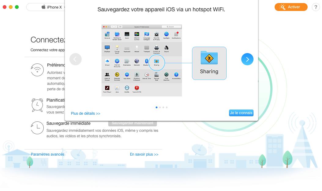 Connecter au même hotspot wifi