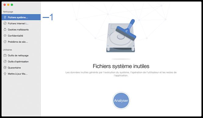 Sélectionnez Fichiers système inutiles
