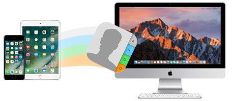 Comment synchroniser les contacts iPhone vers Mac1