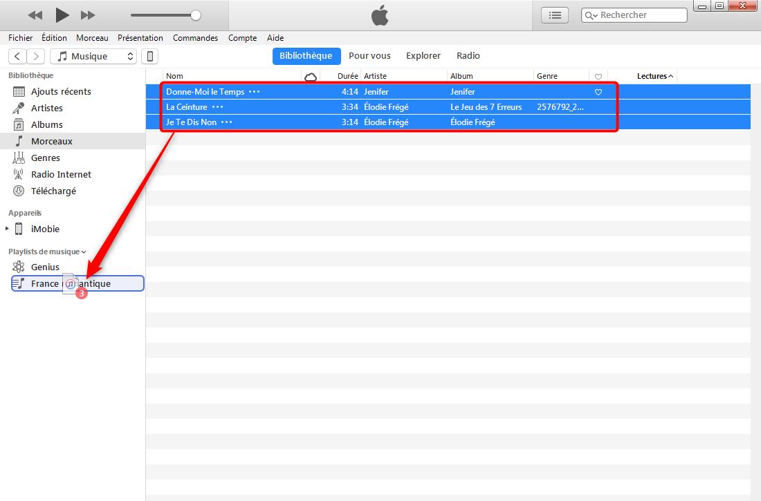Ajouter une playlist sur iPhone 8/X – étape 2