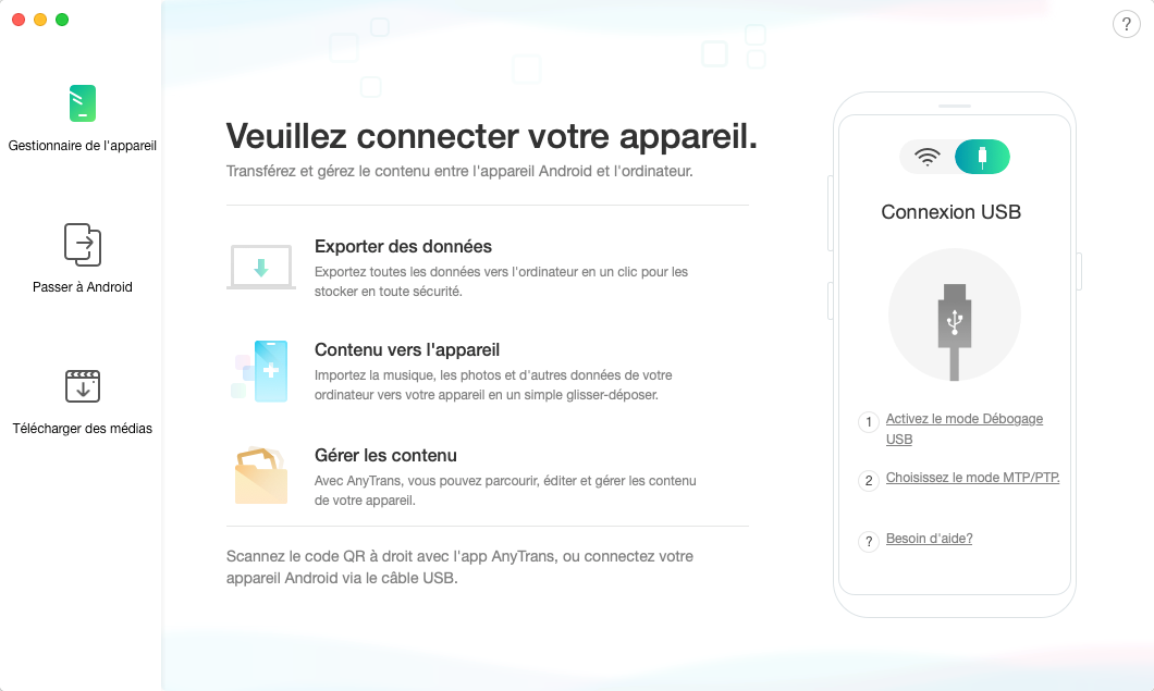Passer d'iPhone à Android avec AnyTrans pour Android