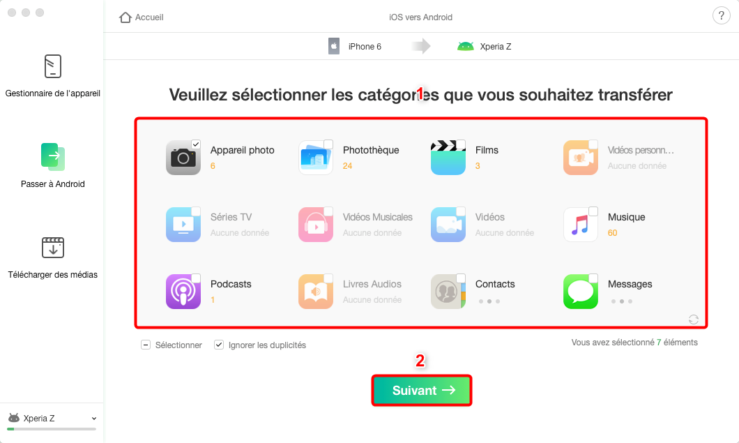 Comment passer d'iPhone à Android avec AnyTrans pour Android