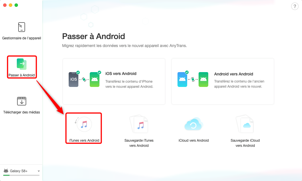 Moyen facile de transfert de la musque iTunes vers Samsung – étape 1