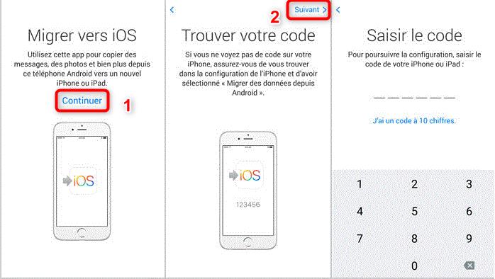 Commencer à récupérer les données Android sur iPhone - étape 1