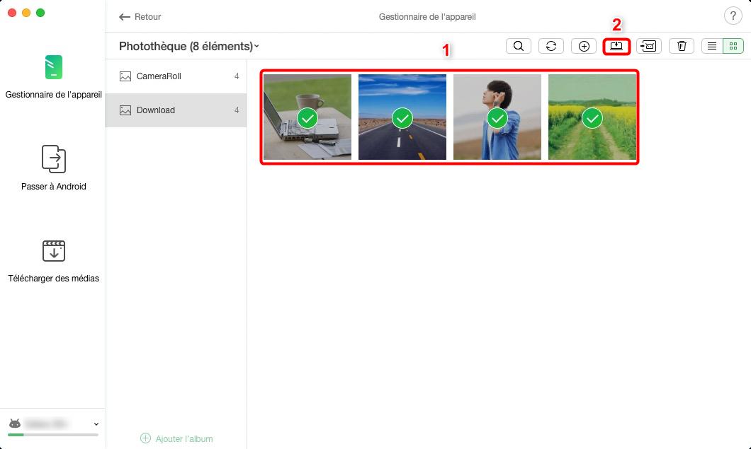 Copier les photos de Sony Xperia vers Mac – étape 3