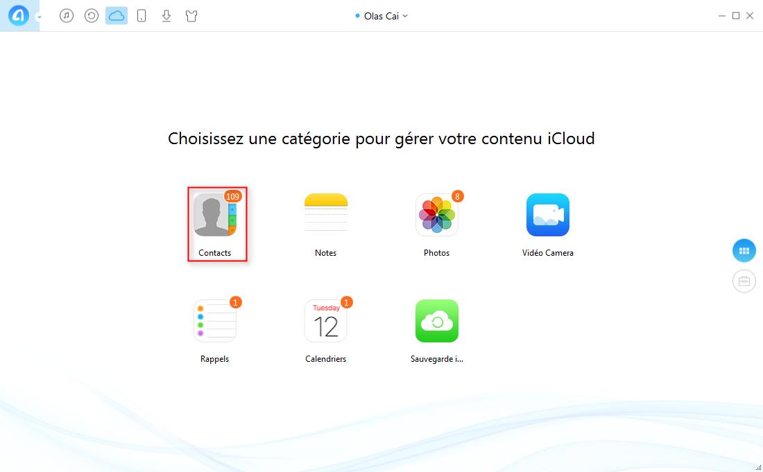 Transférer les contacts entre iPad par deux Apple ID facilement – étape 4