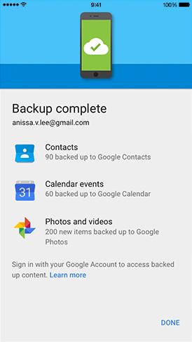 Passer iOS à Android avec Google Drive