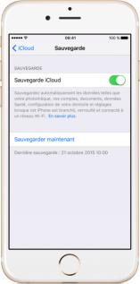 Transférer des données iPhone vers iPhone avec iCloud