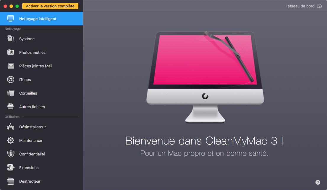 Logiciel de nettoyage de Mac – CleanMyMac