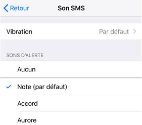 Correction de l'iPhone ne m'alerte pas des textes