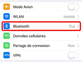 Désactiver Bluetooth sur iPhone