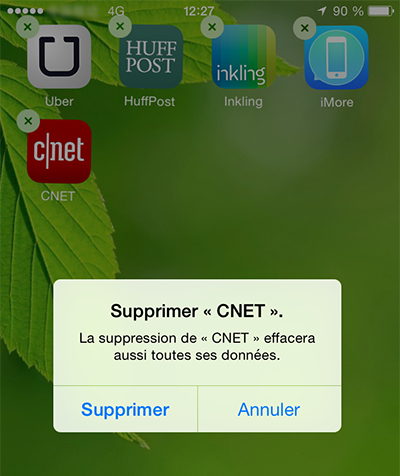 Supprimer les applications inutiles de l'iPhone