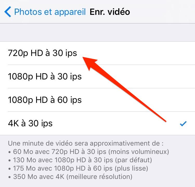 Réduisez la qualité de vos photos et vidéos