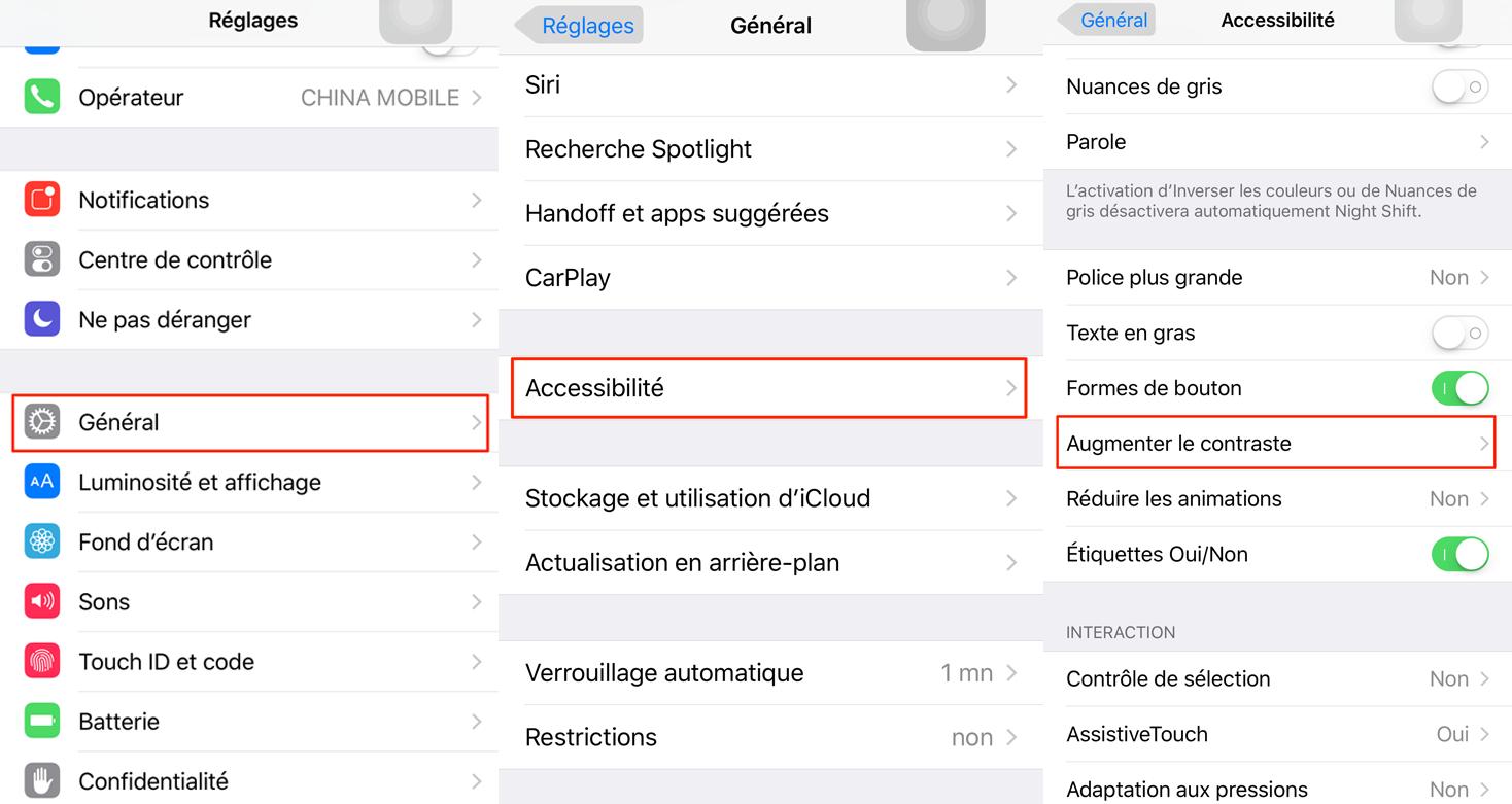 Moyen d'accélérer votre iPhone