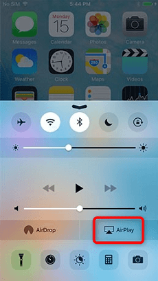 Activation d'AirPlay sur iPhone