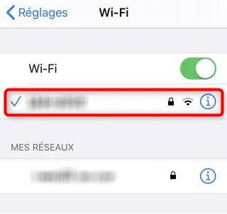 Activation de la connexion Wifi